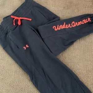 Girls youth Uber armour sweatpant joggers